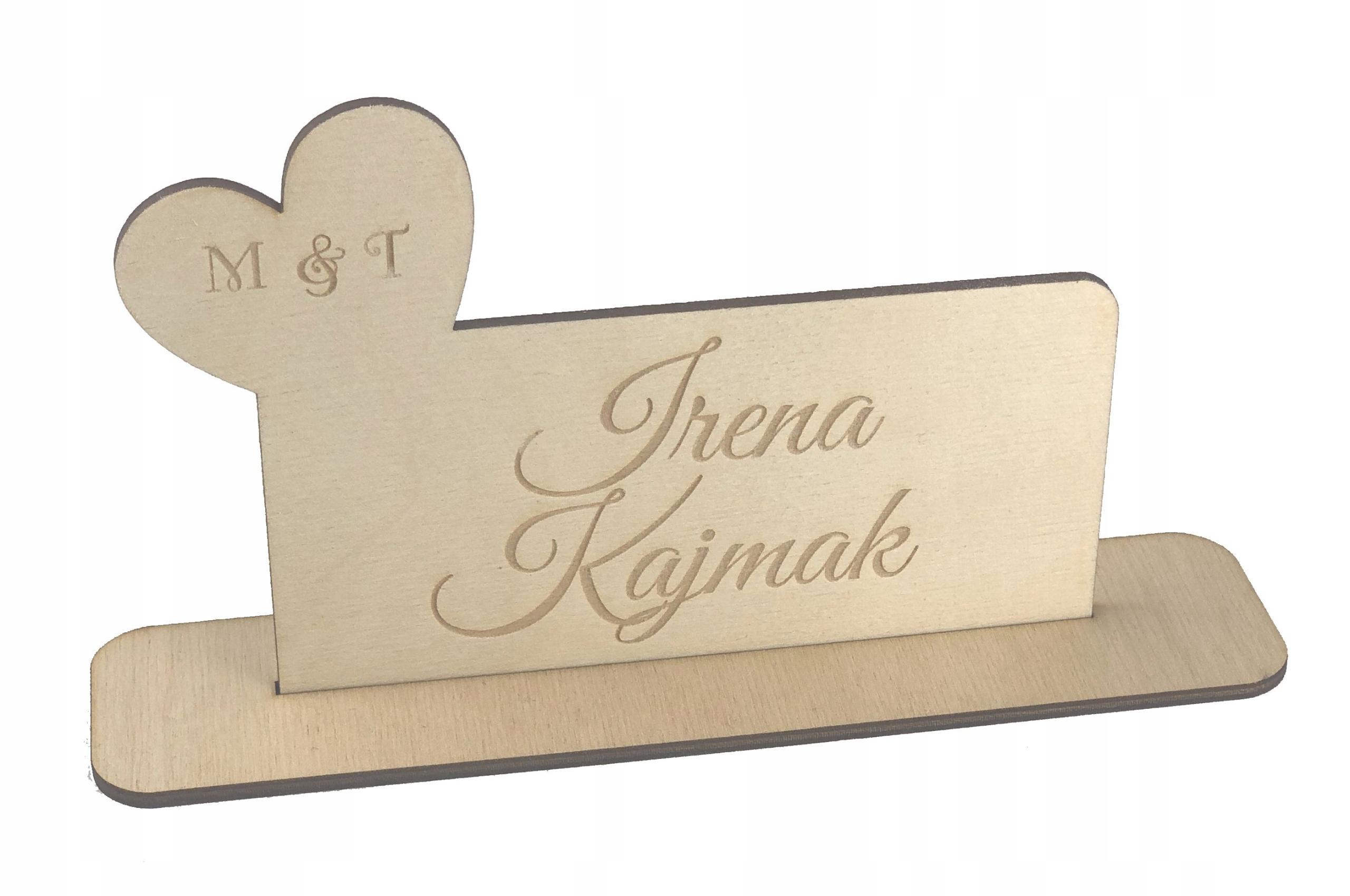 Купить Виньетки деревянные с гравировкой свадьба - инициалы на Otpravka - цены и фото - доставка из Польши и стран Европы в Украину.