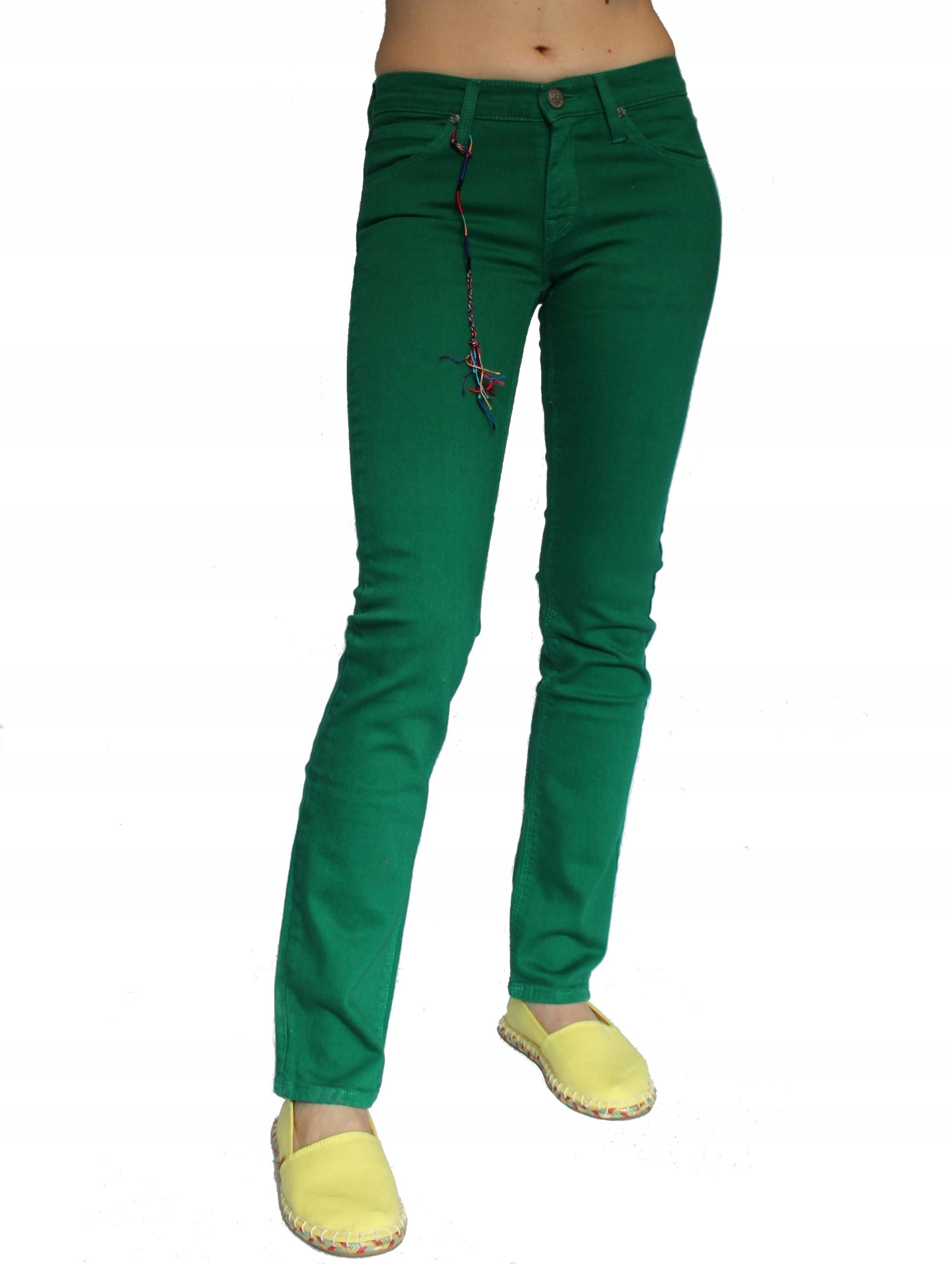 Lee Jade Colours Skinny Slim spodnie rurki W28 L33