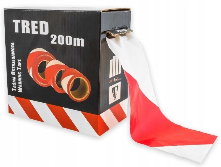 Предупреждение Лента белый и красный TRED 200 м Box