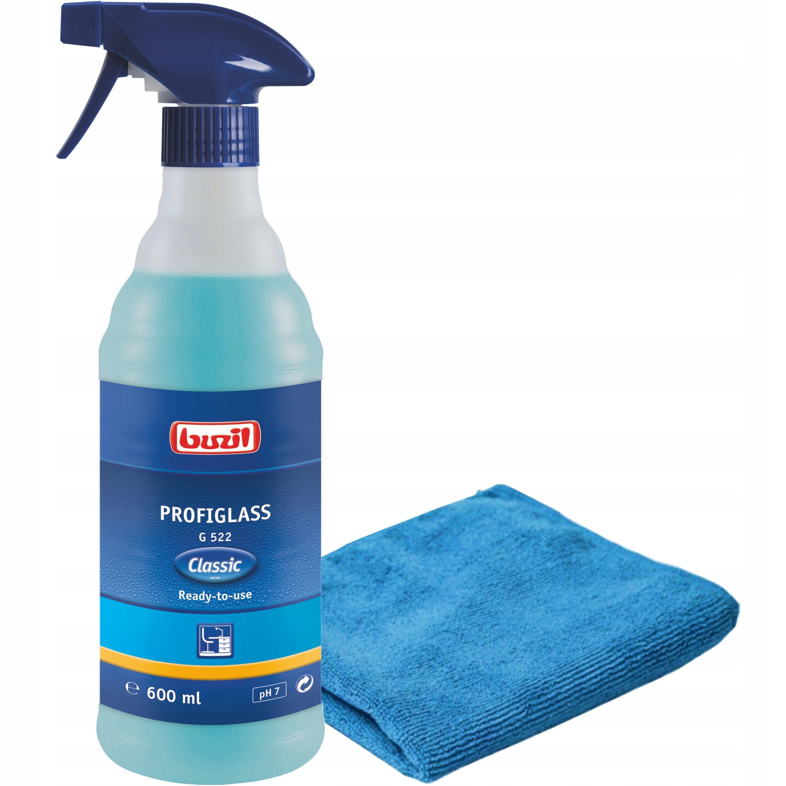 Комплект для мытья стекол, окон Buzil G522 + салфетка