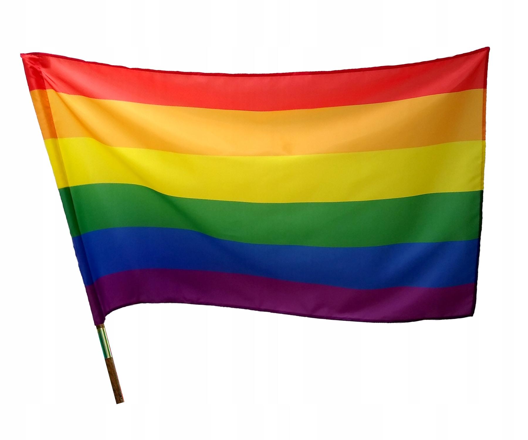 Flaga PRIDE LGBT Tęczowa 85x52cm * TEXICO