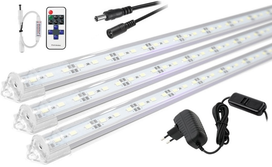 LED osvetlenie podszafkowe svetlo DIAĽKOVÉ 3x50cm