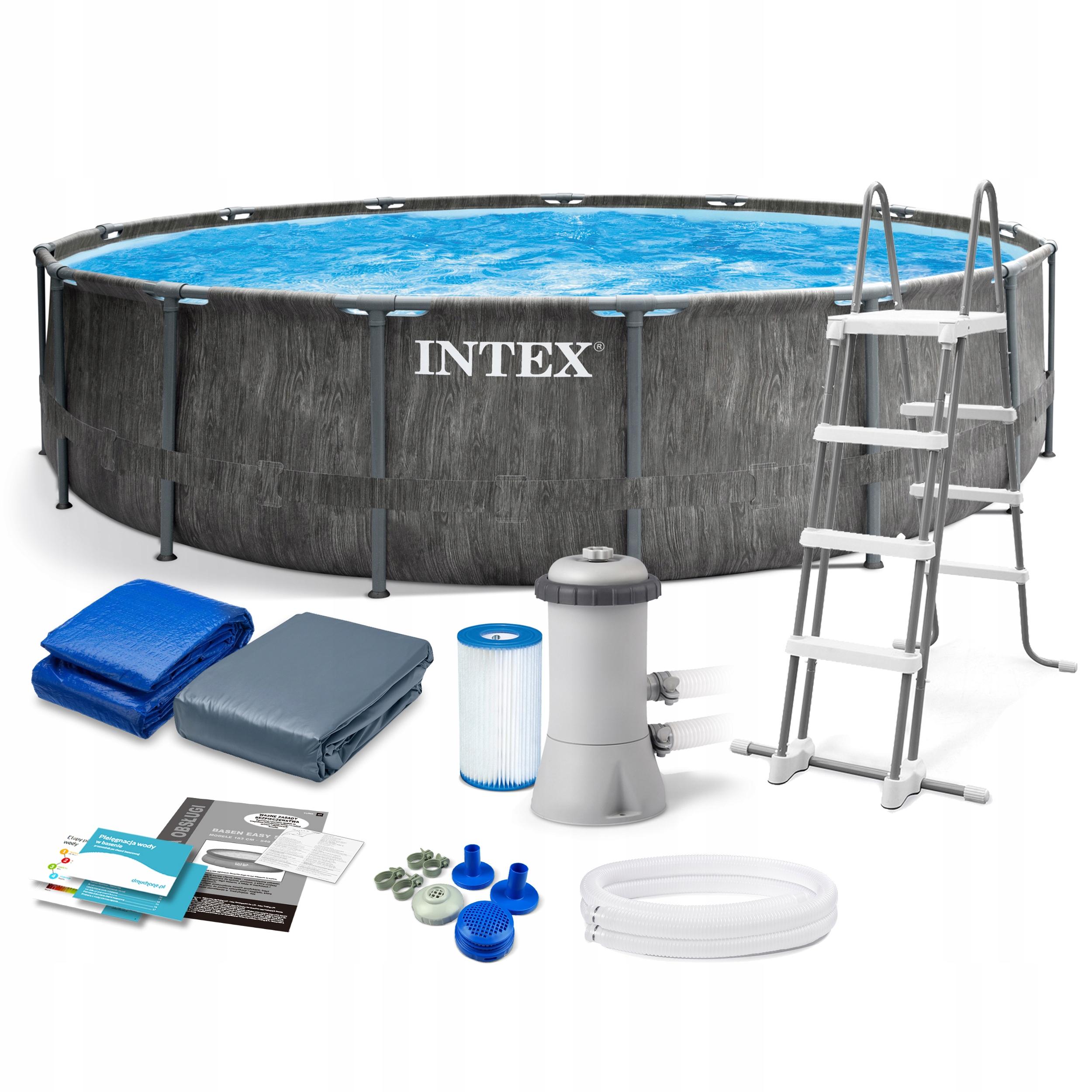 Basen Ogrodowy Stelazowy Intex 457x122 Zestaw 12w1 8862990979 Allegro Pl