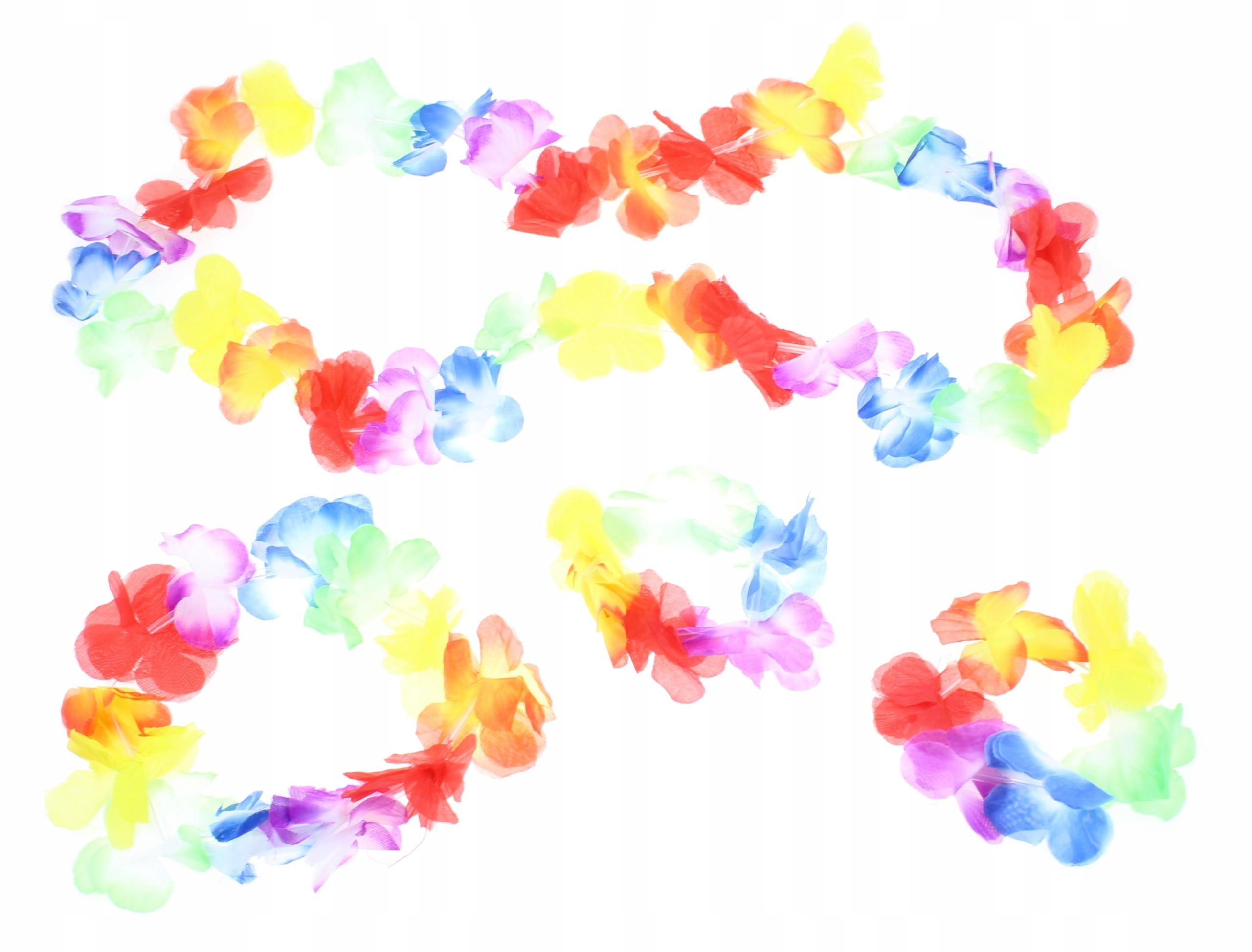 Купить G2 Цветы гавайские гирлянды+гирлянда+браслет КОМПЛЕКТ на Otpravka - цены и фото - доставка из Польши и стран Европы в Украину.