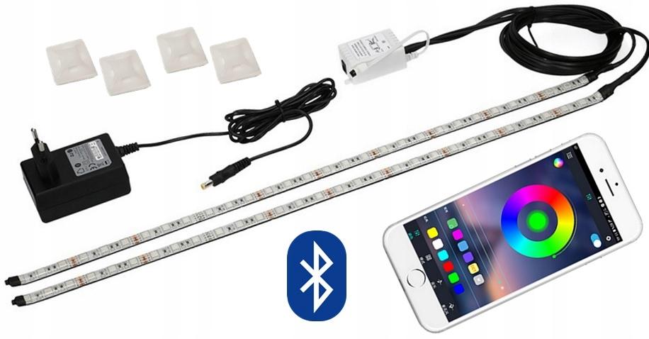 PROF svetlo LED RGB IP68 akvárium BLUETOTH 2x200cm
