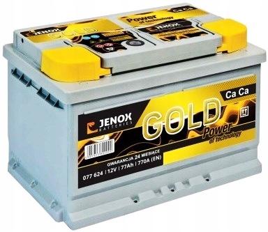 аккумулятор jenox gold 77ah 770a