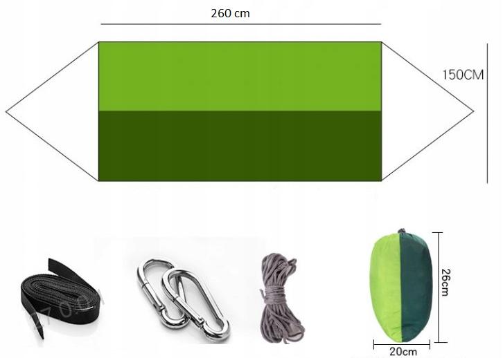 Dvojitá hojdacia sieť SEMIŠKA S MOSQUITO NET BIWAK (H005) Rôzna farba