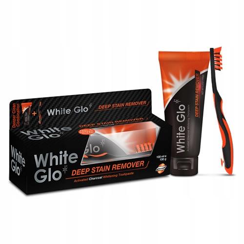 White Glo Charcoal ЧЕРНАЯ зубная паста отбеливающая 100 мл