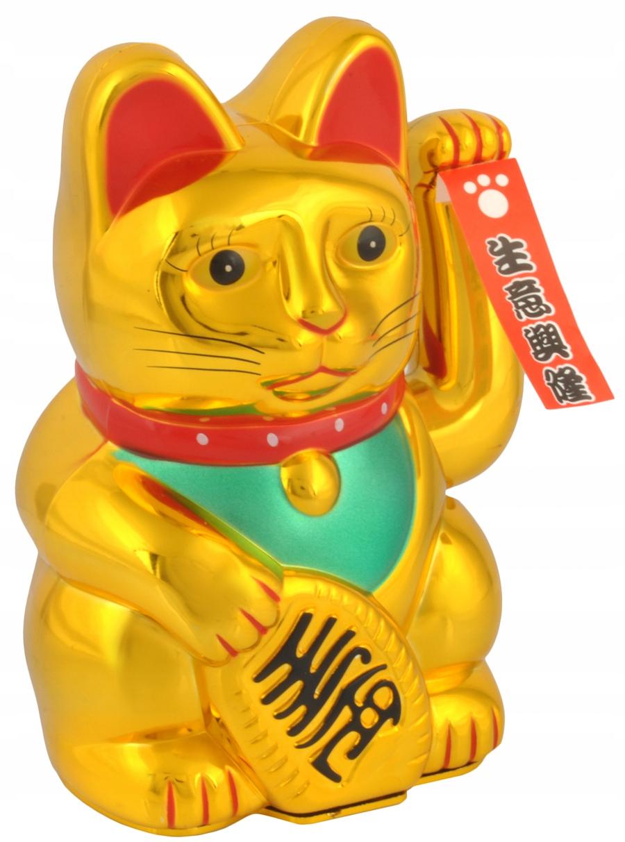 Japoński Kot Maneki Neko Chiński Kot Szczęścia