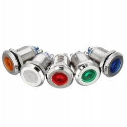 Светодиодный свет 14mm красный 12V металл болтами
