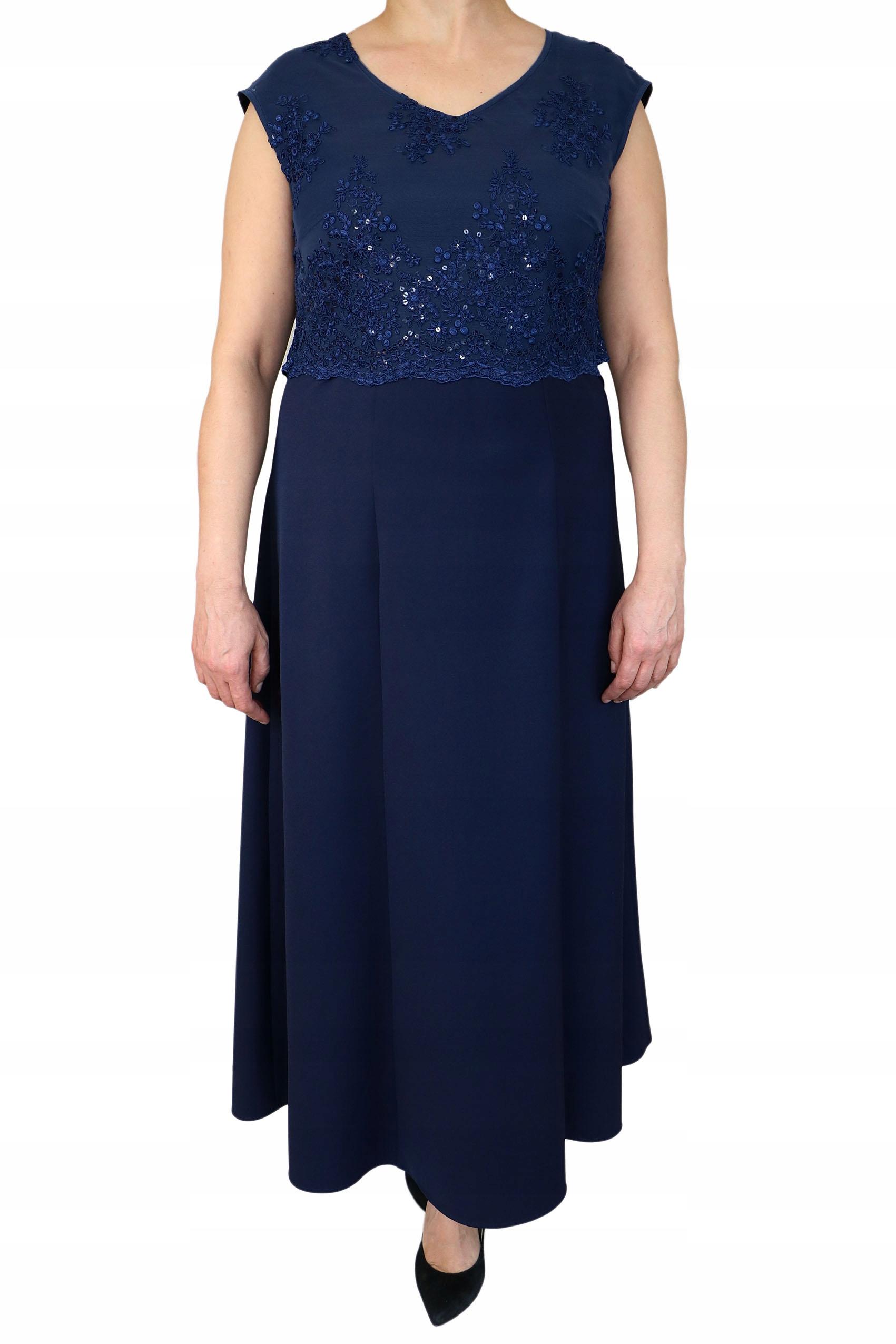 sukienka olśniewająca długa z haftem + szal 54gr