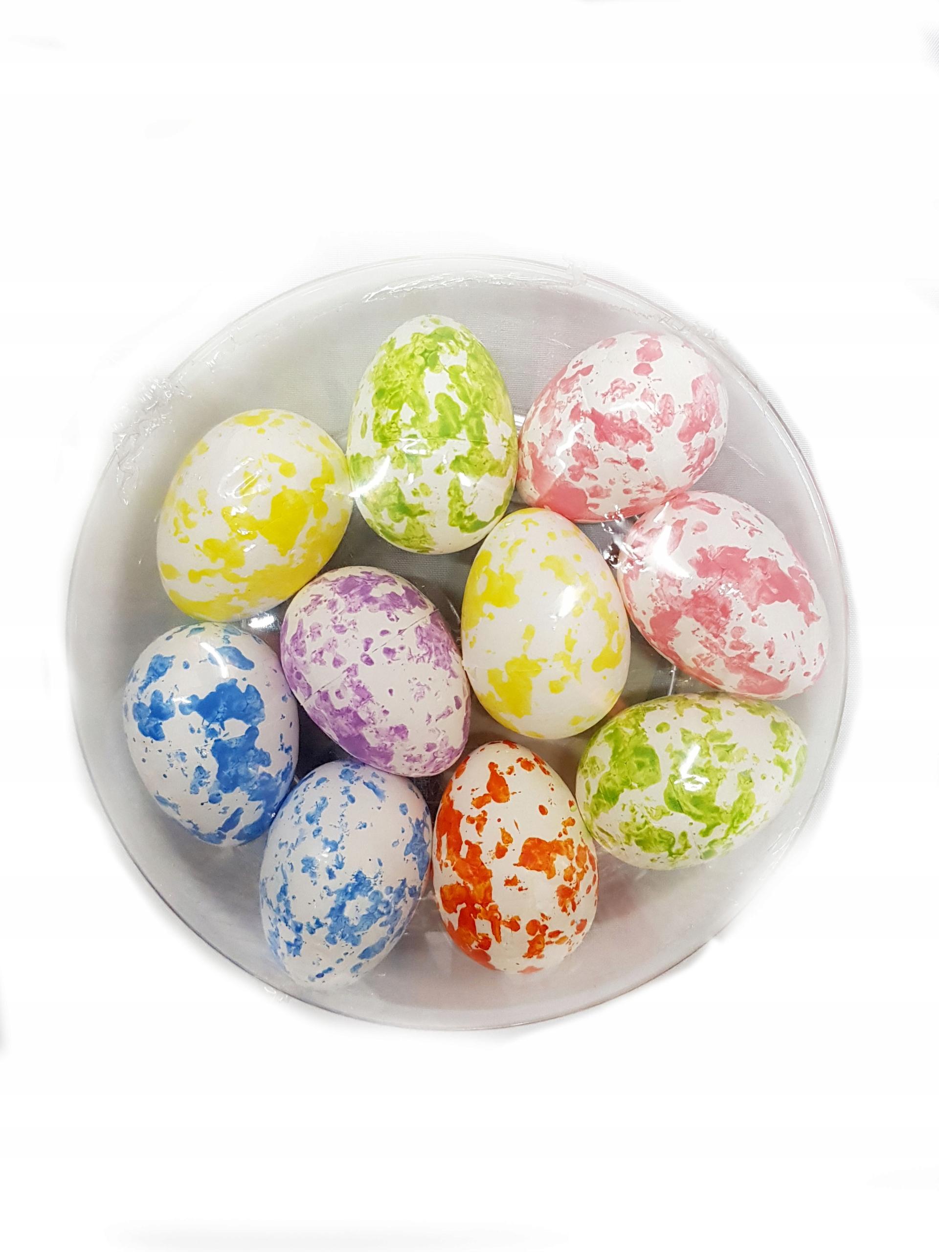10 X Kolorowe Jajka Wielkanocne Pisanki Stroik 4cm 7902039663 Allegro Pl