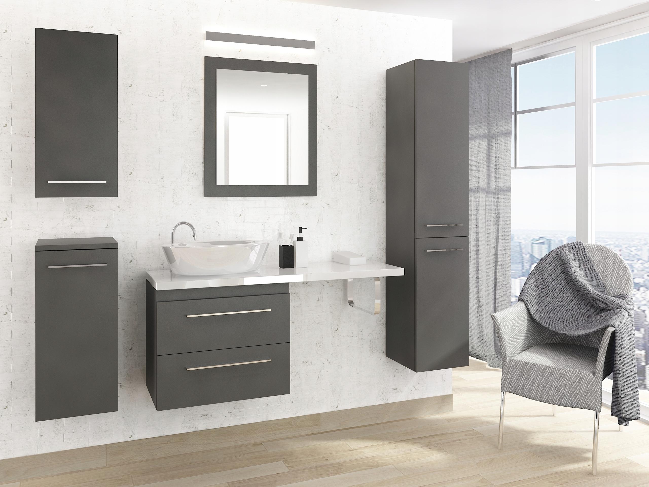 Kúpeľňový nábytok set top 100 GRAFIT Mat