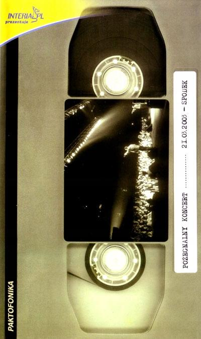 Item PAKTOFONIKA - FAREWELL CONCERT video VHS