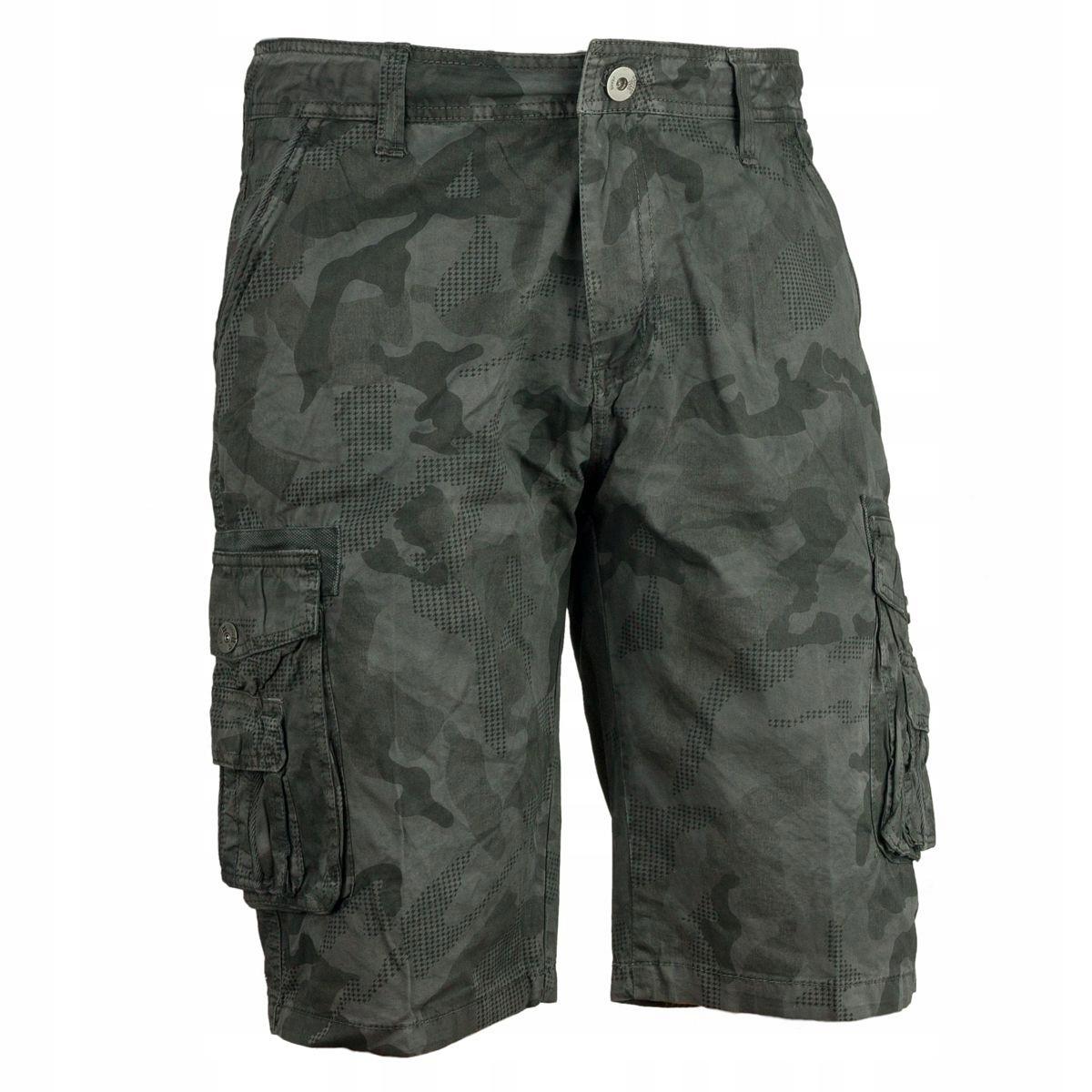 6191b5d58 Spodnie bojówki krótkie spodenki MORO GREY R 48