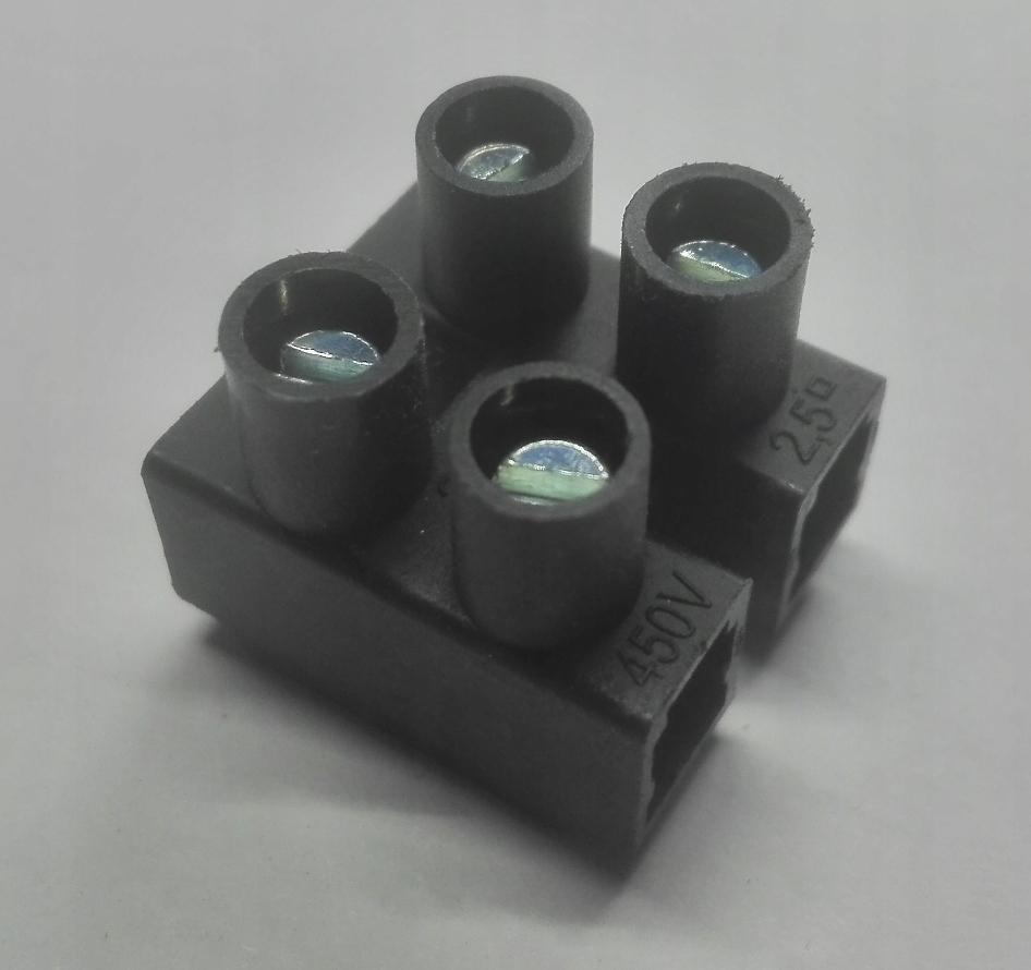 Кубик электрические Разъемы 2pin 450Vmax 2,5 мм FV