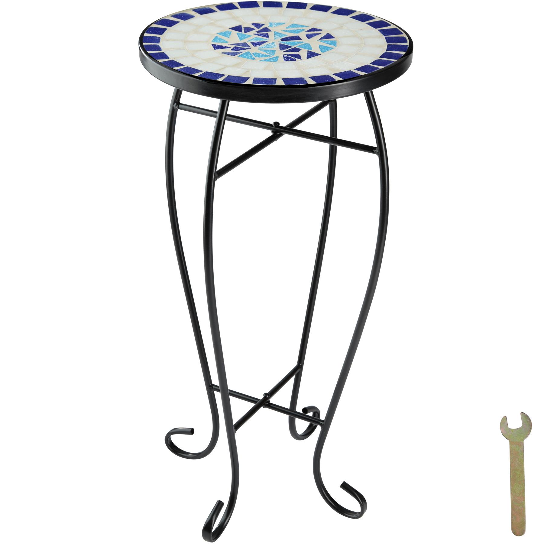 Balkónový stôl, mozaika, kvetinový záhon, 402769