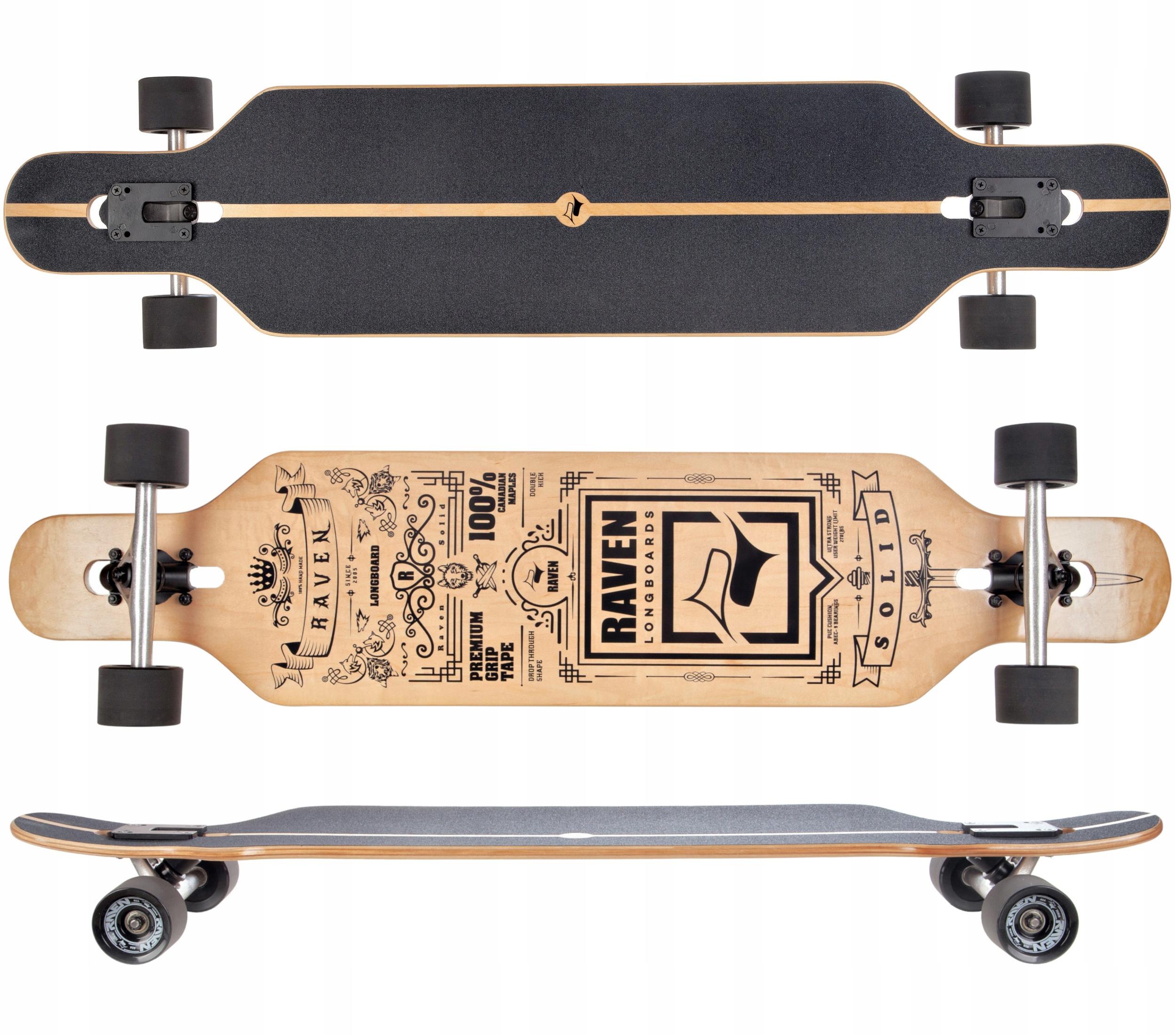 Скейтборд Longboard RAVEN Solid ABEC9