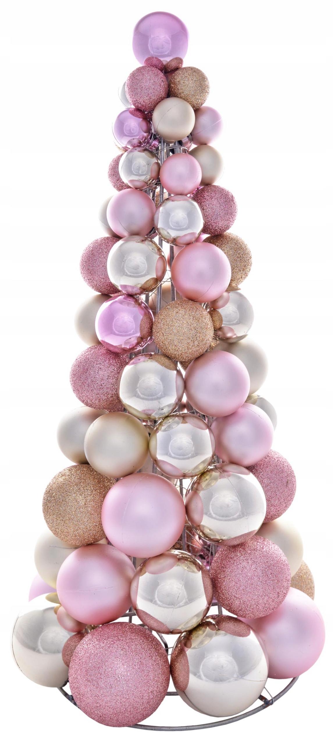 Vianočný stromček s guľkami z ružového zlata H40