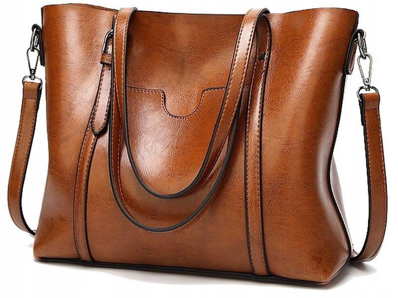 L121 BAG Женская вместительная кожаная сумка