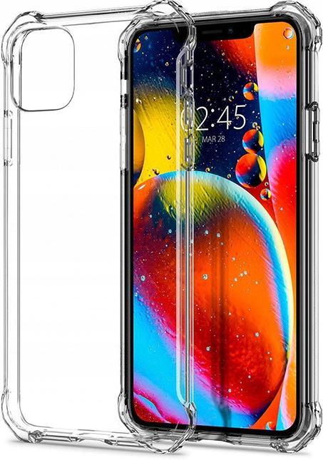 ETUI CLEAR CASE GUMA + SZKŁO 9H do iPhone 11 Typ plecki