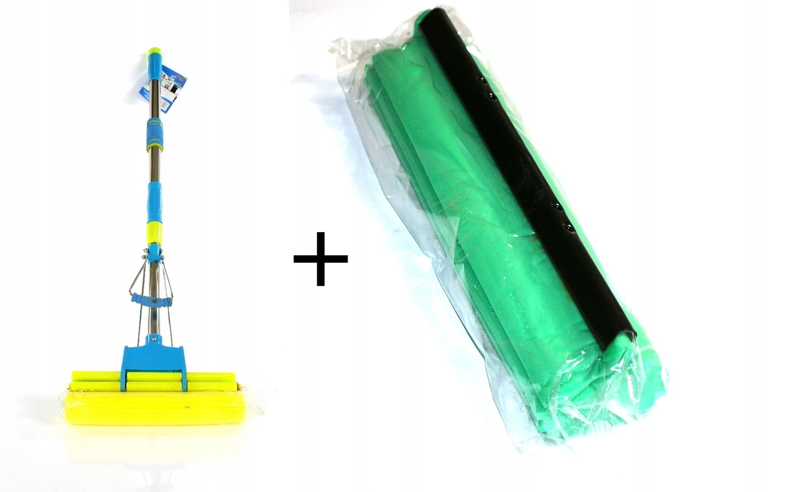 ШВАБРА губка телескопическая штампованный+ ЗАПАС