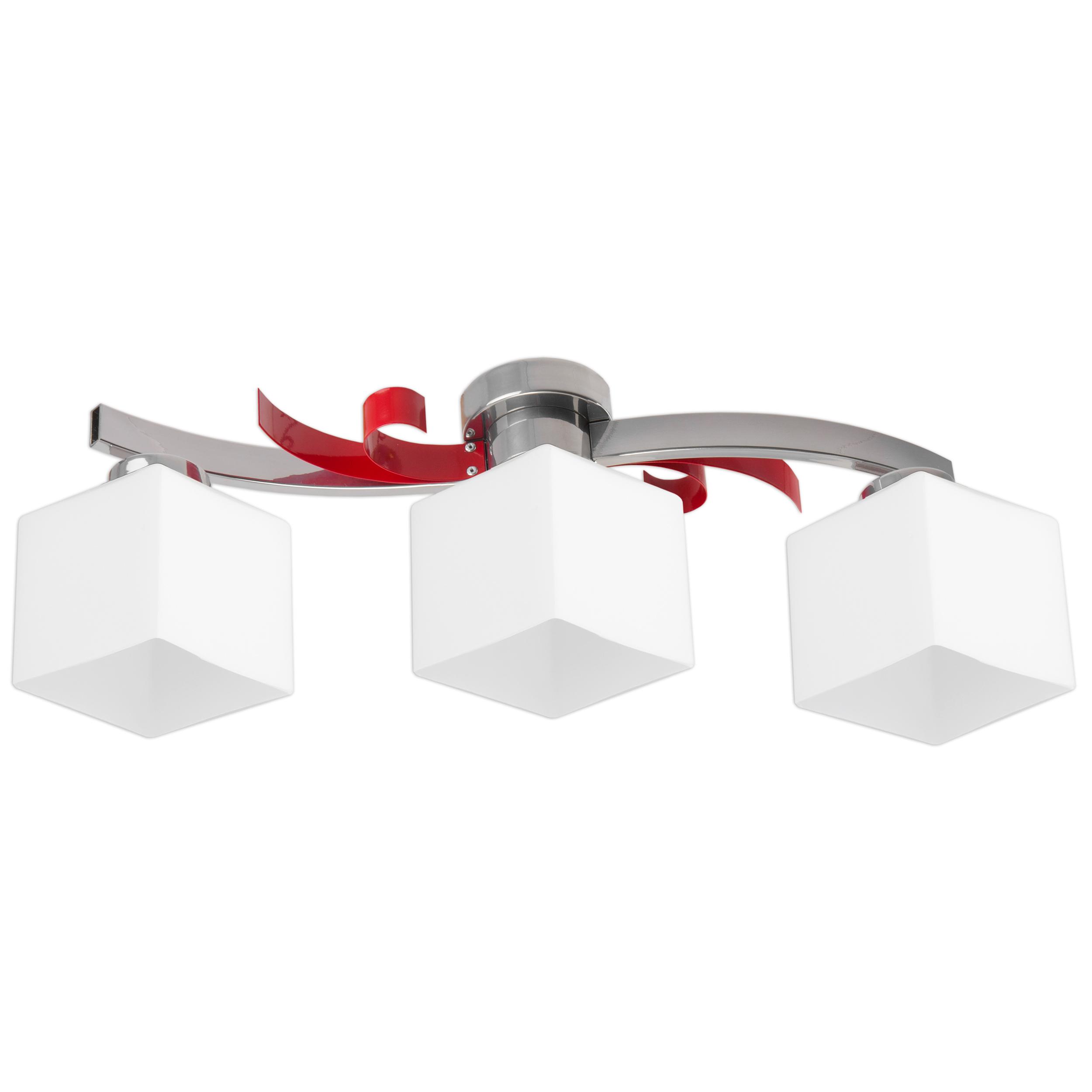 Moderná lampa prívesok lampa ATRATO / ČERVENÁ