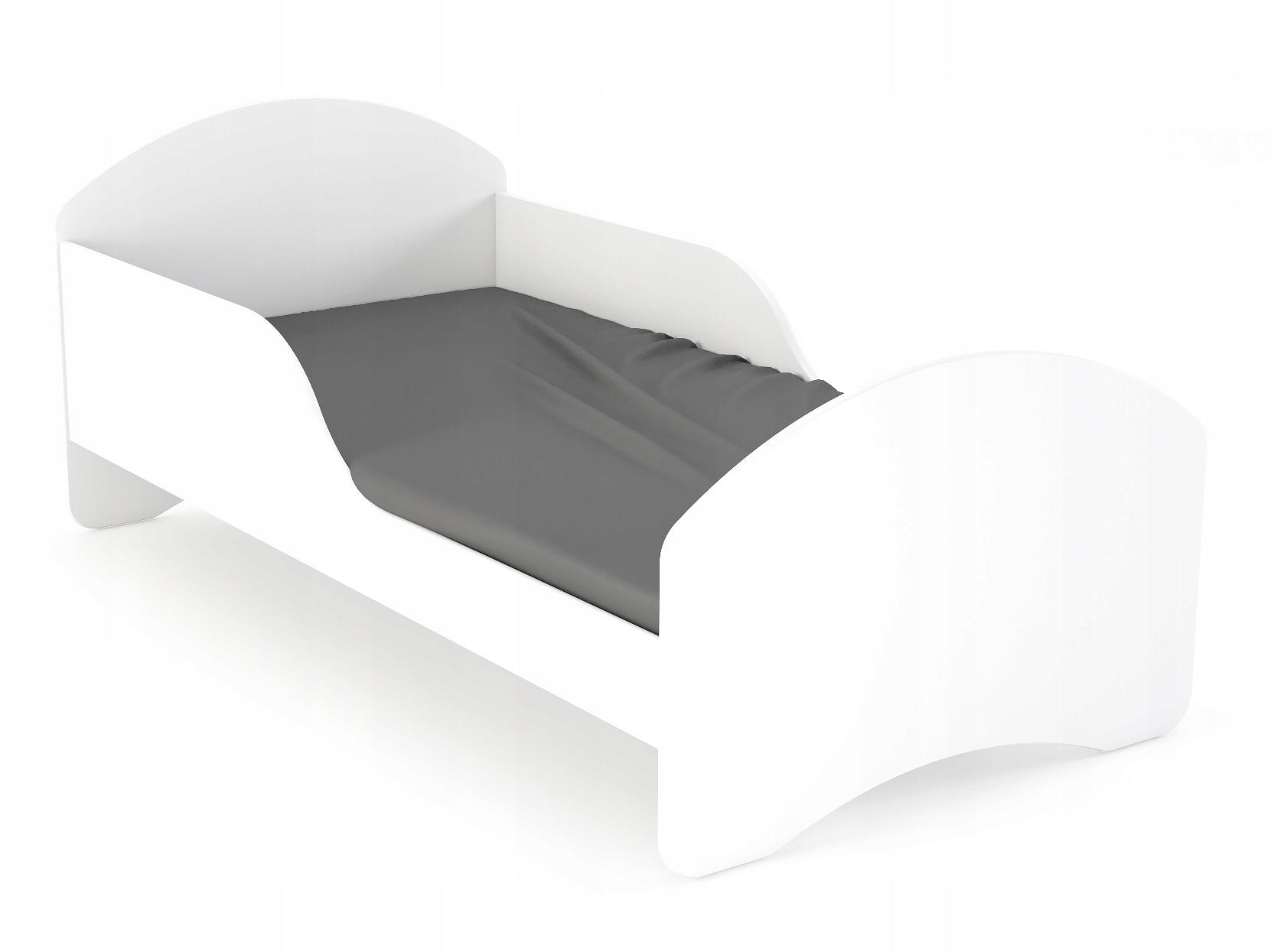 Detská posteľ detská postieľka 140x70 LEO2 biela posteľ