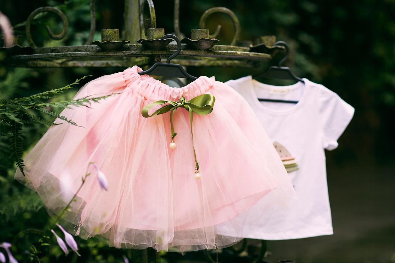 Zestaw dziewczynka spódniczka tiul lato różowa Zapięcie brak