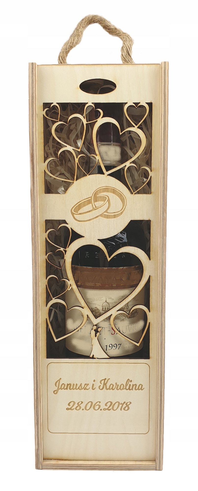 Деревянная коробка для вина. Подарочная коробка. Гравировка.