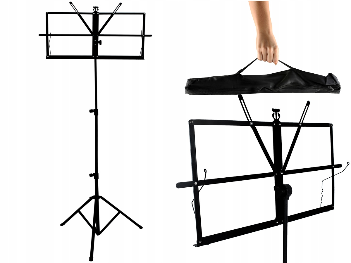 Item The music stand for the Music Student on a Tripod Notes + Case