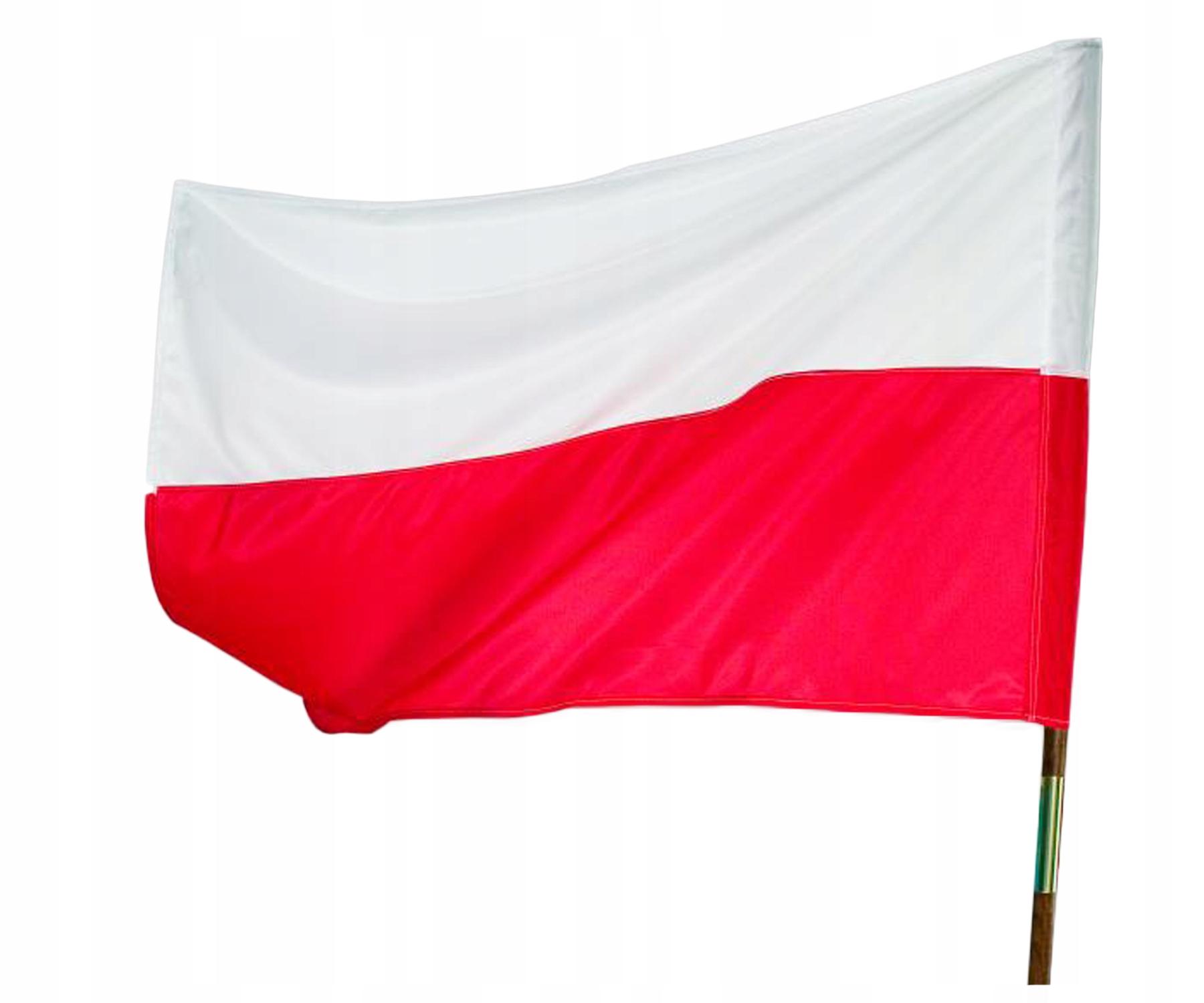 FLAGA FLAGI POLSKA POLSKI NARODOWA 112x70cm TEXICO