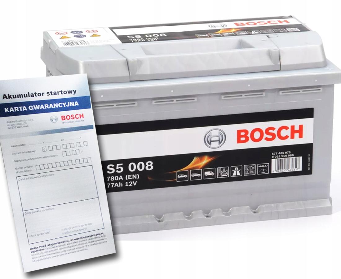 аккумулятор bosch silver s5 77 ах 780a