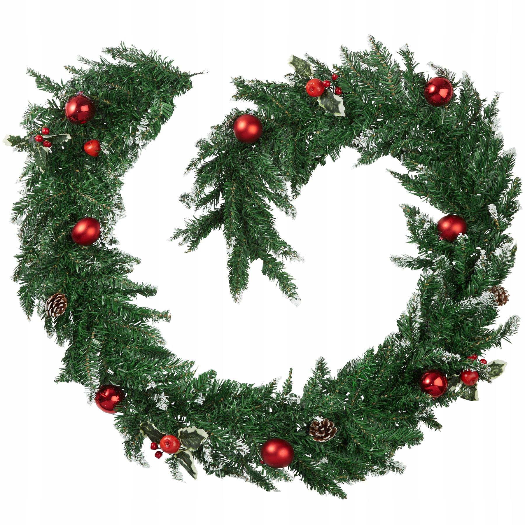 Vianočná girlanda s ozdobami a šiškami 403315