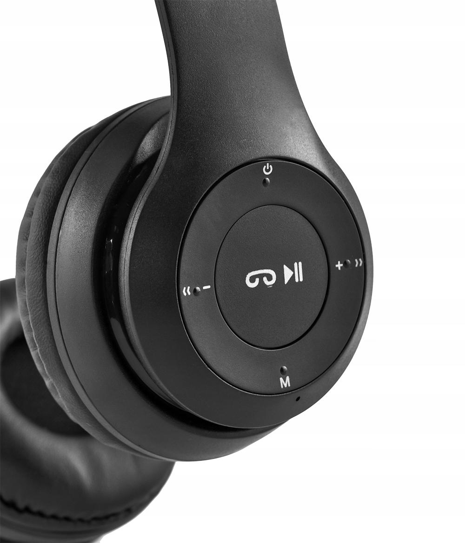 Bezdrátová sluchátka Bluetooth. Mikrofon FM MP3. Dominantní barva: černá