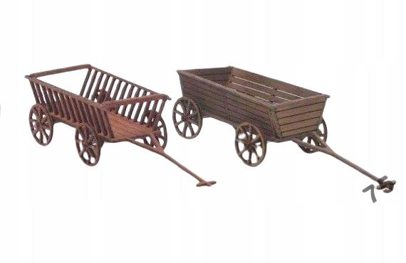 TT - 140005 wozy drewniane 2 sztuki 1:120