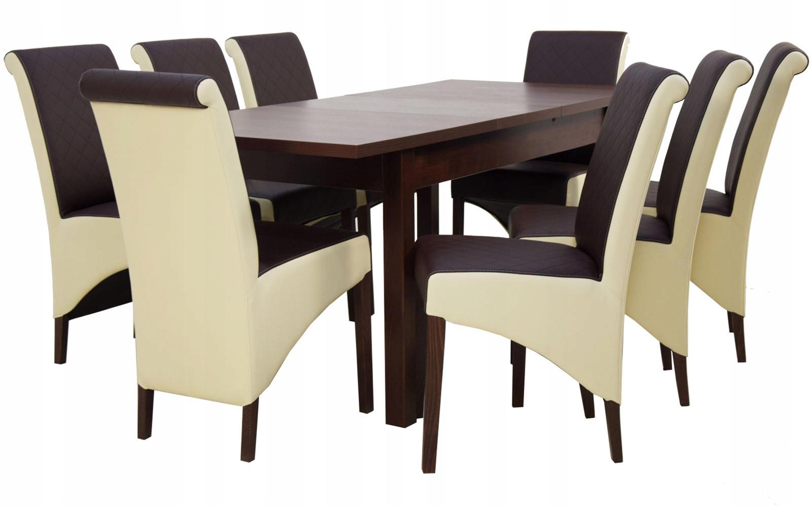 Купить Комплект деревянный стол 80/180 и 8 СТУЛЬЕВ В БРОНЗЕ на Otpravka - цены и фото - доставка из Польши и стран Европы в Украину.