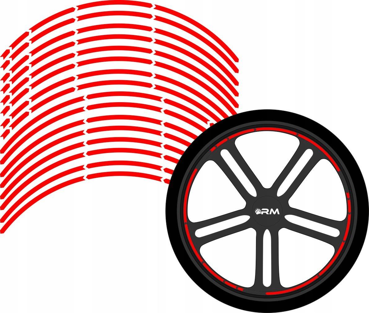 RIM STRAPS наклейки колеса 15-21 дюймов 8 мм # 2