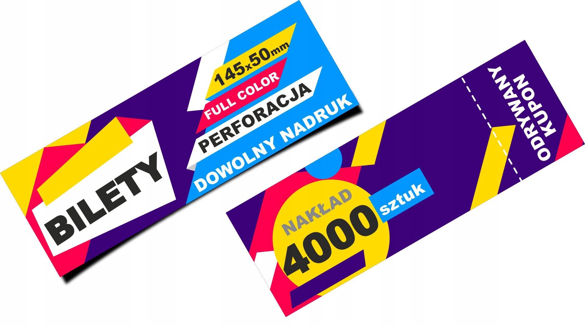 BILETY kupony IMPREZY Mecze KONCERTY 4000 sztuk