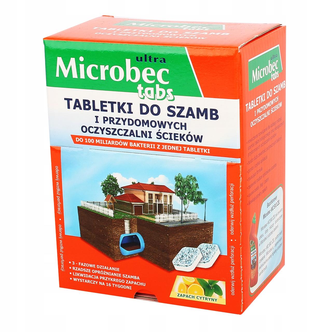 MICROBEC ТАБЛЕТКИ ДЛЯ СЕПТИКОВ И ОЧИСТНЫХ СООРУЖЕНИЙ