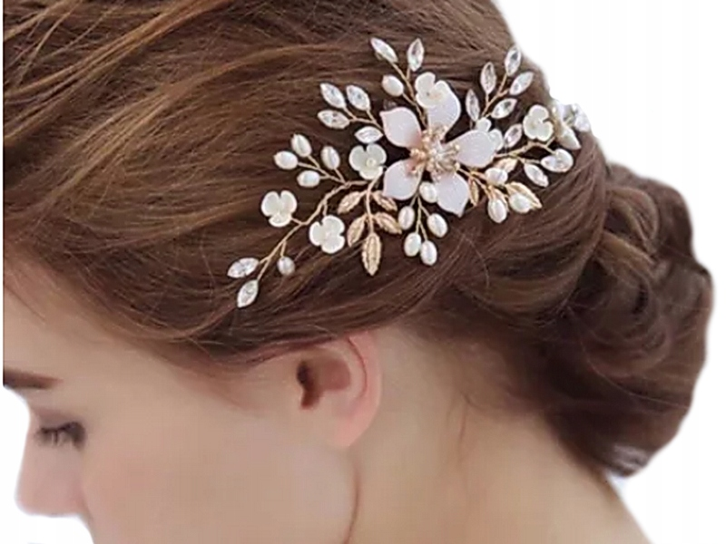 Item Z211 Decoration, WEDDING dress Scallop Sprig of Golden Hair