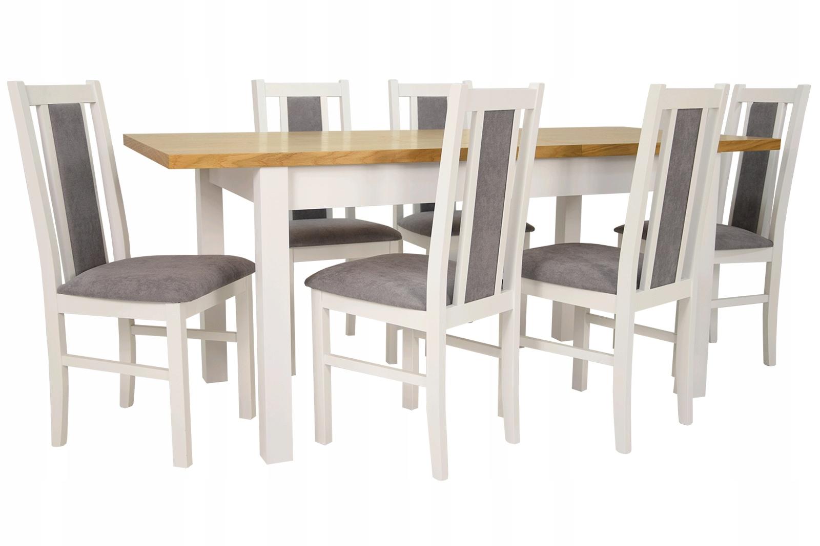 Купить МОДНЫЙ комплект Стол 80/180 и 6 стульев деревянных на Otpravka - цены и фото - доставка из Польши и стран Европы в Украину.
