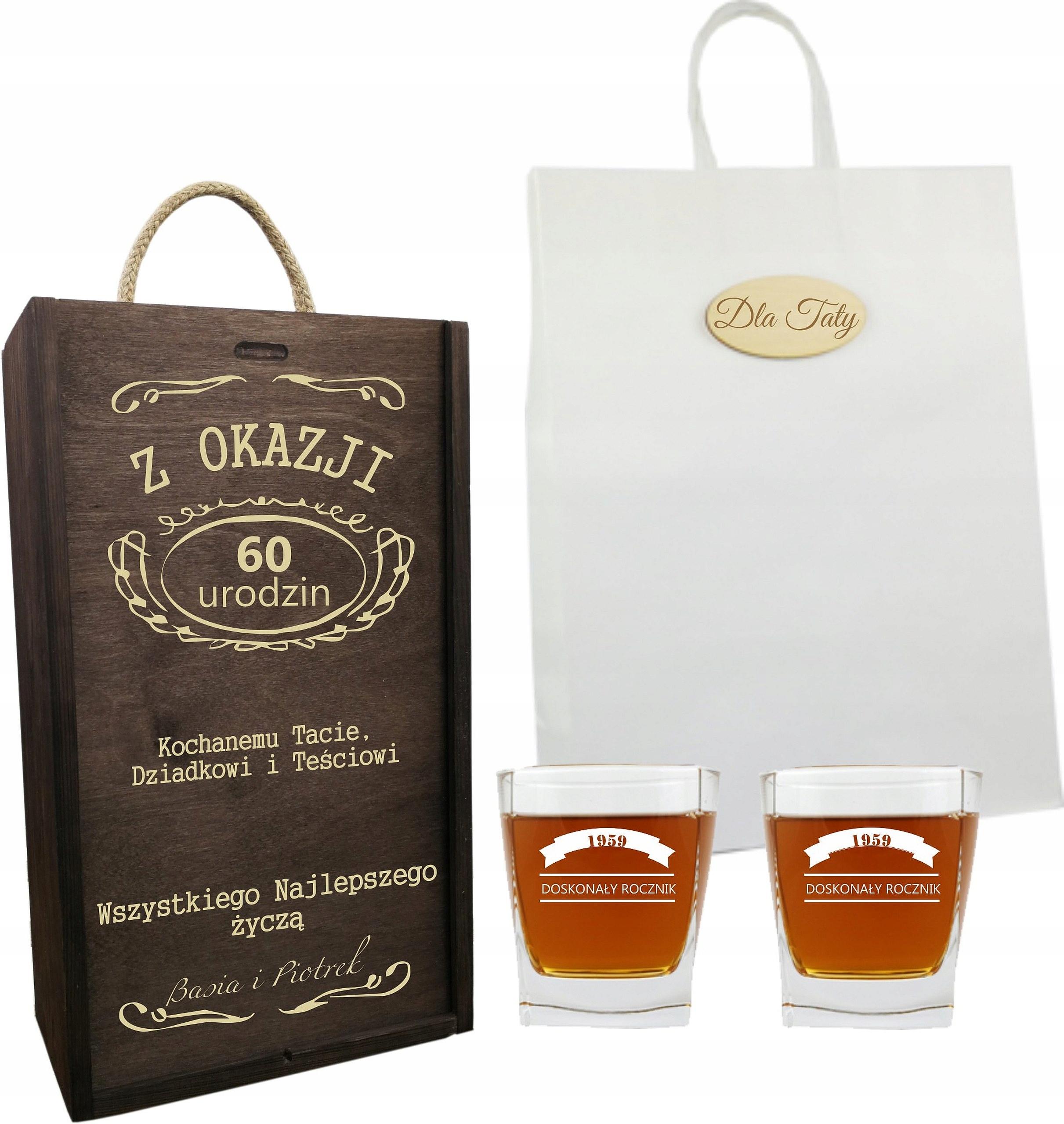 Skrzynka Whisky Prezent Na 18 30 40 50 60 Urodziny 7834711114