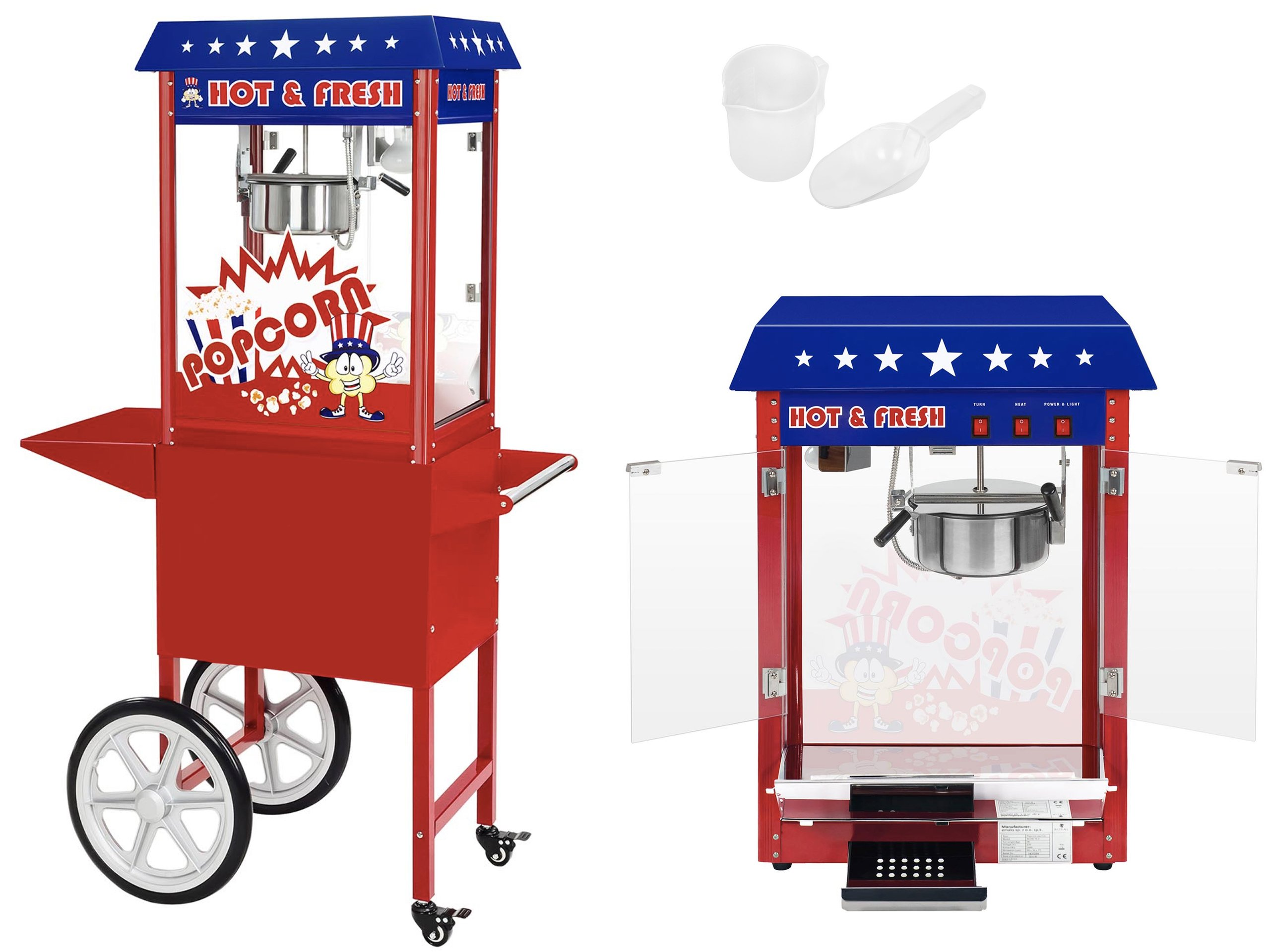 Stroj pre Popcorn American Style 1600W s trolejbikou