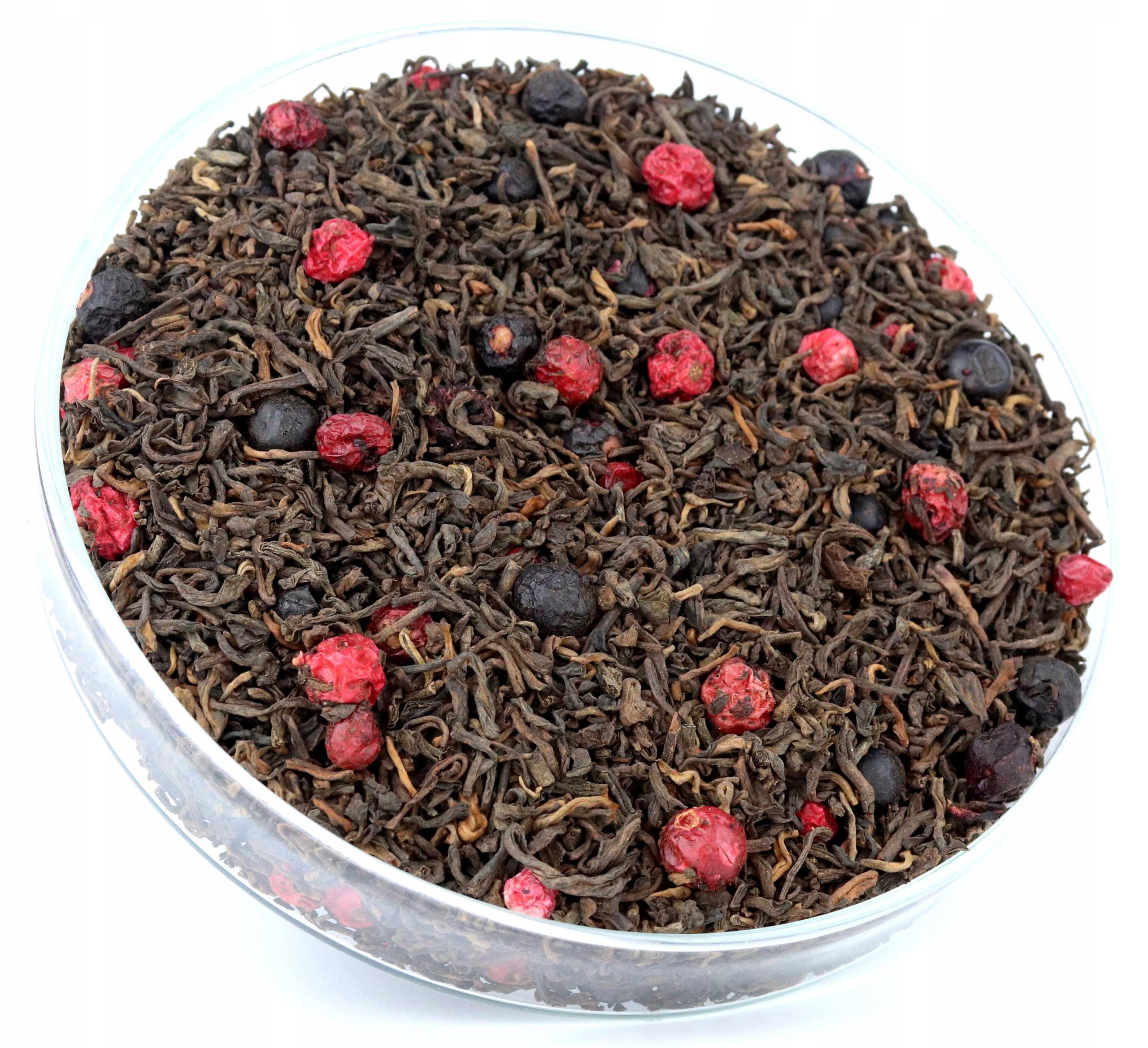 Herbata czerwona Pu-ERH porzeczkowa pyszna 50g