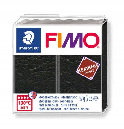 Item Weight Plastic FIMO 57g black leather 909