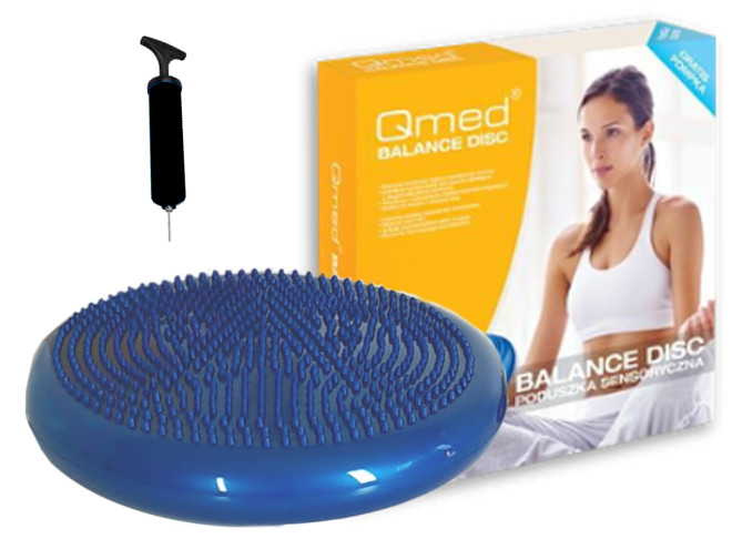 Disková baretka so senzorickými vankúšmi pre cvičenia Qmed