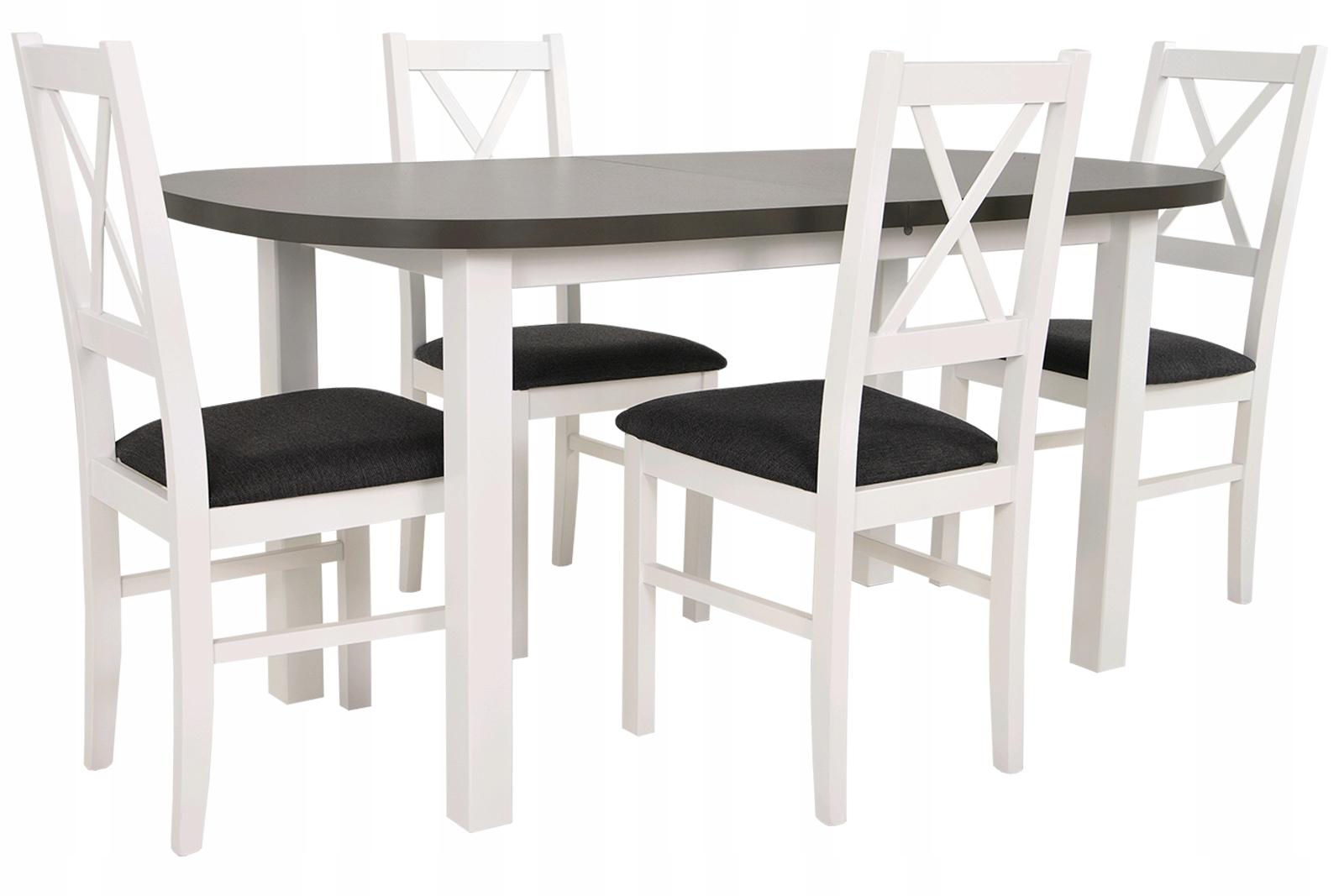 Купить Скандинавский набор БЕЛЫЙ/ГРАФИТ обеденный стол + 4 стула на Otpravka - цены и фото - доставка из Польши и стран Европы в Украину.