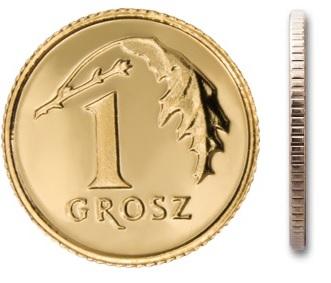 Монета 1 цент 2011 монетного двора с мешочком