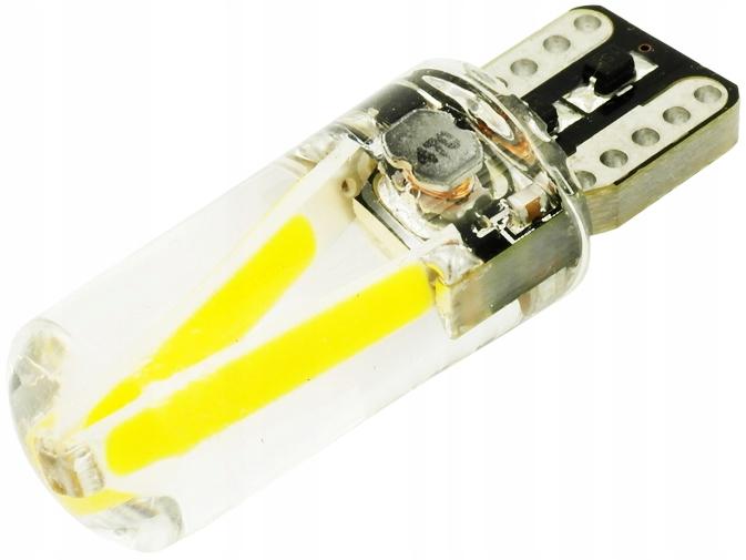 Żarówka LED W5W COB 2W FILAMENT 250lm 12V 24V T10
